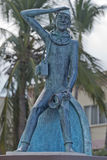 Jacques Cousetau copper statue in mallejon la Paz Baja California Sur Stock Image