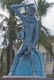 Jacques Cousetau copper statue in mallejon la Paz Baja California Sur Stock Image