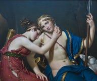 Jacques-Louis David, der Abschied von Telemachus und von Eucharis Stockfotografie