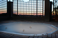 Jacuzi sunset Rome Italy Stock Photo