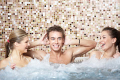 In a jacuzzi Royalty Free Stock Photos