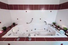 Jacuzzi bath Stock Image