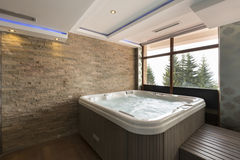 Jacuzzi bath in hotel spa center Stock Image