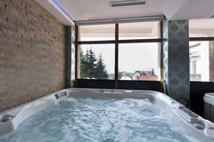 Jacuzzi bath in hotel spa center Stock Photo