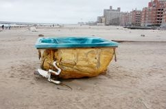 Jacuzzi on the beach of coney island Stock Photo