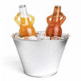 Jacuzzi beer-letterless Royalty Free Stock Images