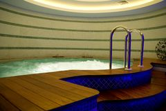 Jacuzzi in the dark Stock Image
