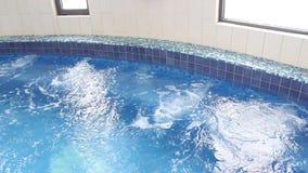 Jacuzzi de la hidroterapia del balneario metrajes