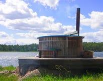 Jacuzzi de madeira Foto de Stock Royalty Free