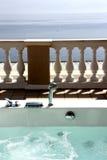 Jacuzzi de terrasse de vue de mer Photo stock