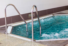 Jacuzzi dell'interno Fotografia Stock