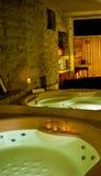 Jacuzzi e sauna immagini stock
