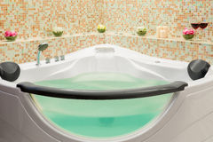 Jacuzzi filled with water Stock Images