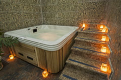 Jacuzzi in a health spa Royalty Free Stock Image
