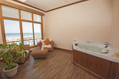 Jacuzzi in a health spa private room Stock Photos