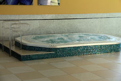 Jacuzzi. Or hot tub - Preventive bath built for comfortable rest and water treatments stock photos