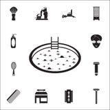 jacuzzi ikona Szczegółowy set fryzjer męski ikony Premii ilości graficznego projekta znak Jeden inkasowe ikony dla stron internet ilustracja wektor