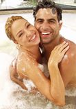 Jacuzzi and love. Stock Image