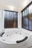 Jacuzzi magnífico en cuarto de baño fotos de archivo