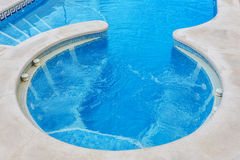 Jacuzzi for massage, closeup, built-in pool. Stock Photography