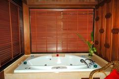 Jacuzzi at modern luxury villa. Samui island, Thailand stock photo