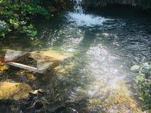 Jacuzzi natural de refrescamento fotografia de stock