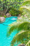Jacuzzi nella piscina Fotografie Stock