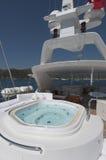 Jacuzzi onMega yacht Stock Photo