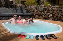 Jacuzzi para a família inteira Fotos de Stock