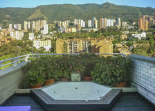 Jacuzzi on Roof Stock Images