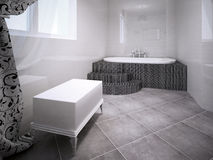 Jacuzzi room. Interior in avant garde style. Royalty Free Stock Images