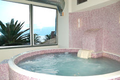 The jacuzzi in SPA at modern hotel Stock Image