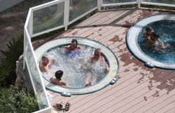 Jacuzzi and spa pools Royalty Free Stock Photos