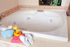 Jacuzzi And Spa Slippers Stock Photo