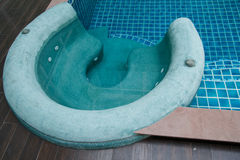 Jacuzzi in the swimming pool Stock Photo