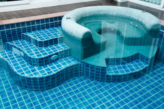 Jacuzzi in the swimming pool Royalty Free Stock Photo