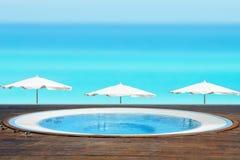 Jacuzzi Tub Facing a Beach Stock Image