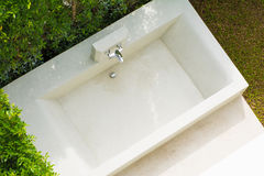 Jacuzzi tub outside the room in hotel Stock Photos