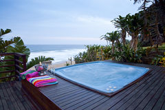 Jacuzzi view Stock Images