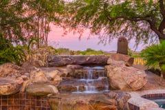Jacuzzi-Wasserfall Stockfoto