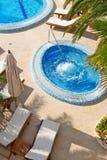 Jacuzzi y piscina Foto de archivo libre de regalías