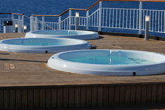 Jacuzzis on deck Royalty Free Stock Image