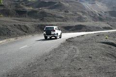 Jadący przez powulkanicznego krajobrazu, los angeles Palma, Hiszpania fotografia stock