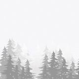 Jadł w śniegu Zdjęcie Royalty Free