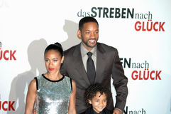 Jada Pinkett Smith, Will Smith, Jaden Christopher Royalty Free Stock Images