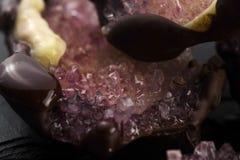 Jadalni Cukrowi kryształy Fotografia Royalty Free