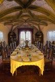 Jadalnia, Pena Krajowy pałac, Sintra, Portugalia obraz royalty free