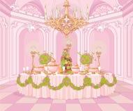 Jadalnia w Princess pałac royalty ilustracja