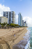 Jade Beach in Sunny Isles Beach in Florida Royalty Free Stock Image