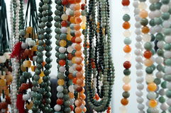 Jade beads Royalty Free Stock Photos